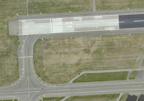 Рульожки в жълто. Пистата в бяло. Изт.: Google Maps