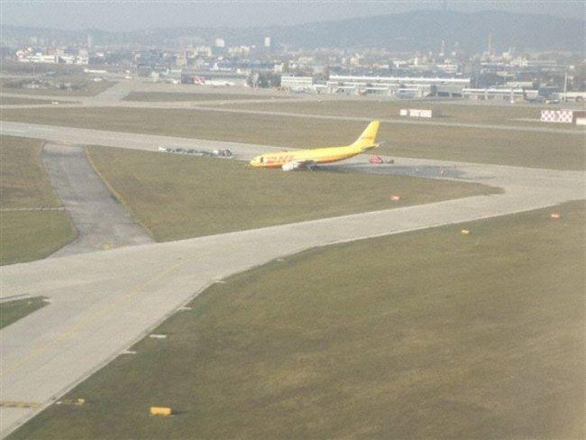 Подкосеният А300 на DHL. Изт: avherald.com