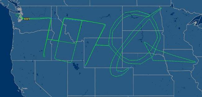 Полет на Boeing 787 - Dreamliner. Изт: flightaware