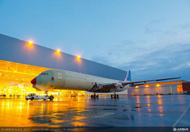 Първият А350 XWB. Изт: Airbus