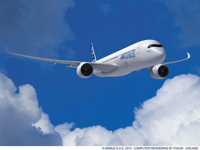 А350 XWB - компютърно изображение. Изт: Airbus