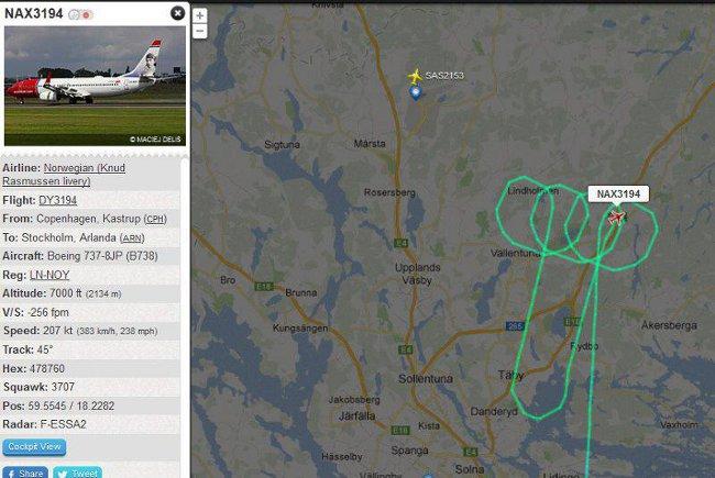 Полет NAX3194. Изт: flightradar24.com