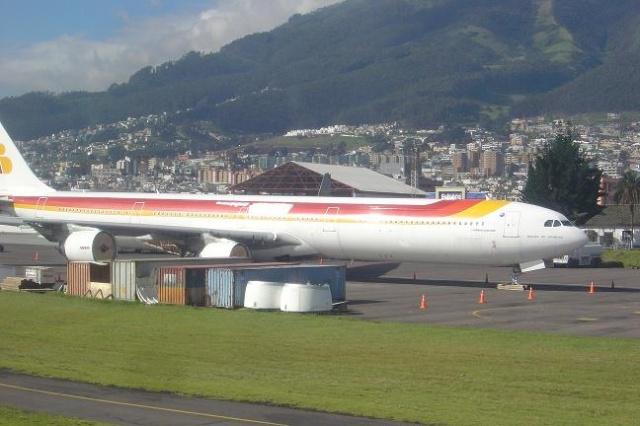 Самолетът на Iberia с боядисаното лого. Изт.:travbuddy.com