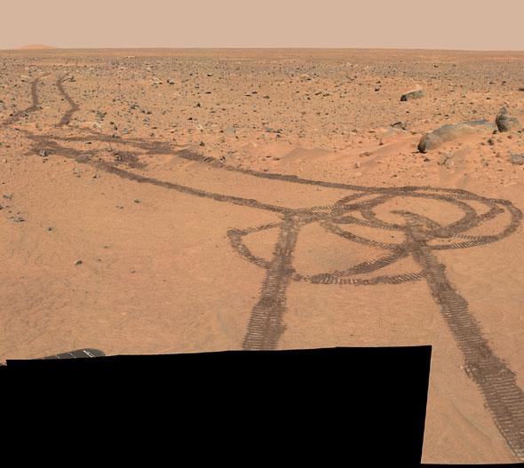 Рисунка на Марс. Изт: NASA