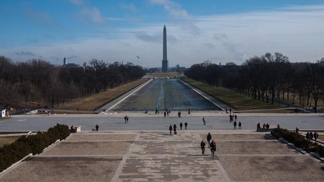 Изгледът от мемориала на Линкълн